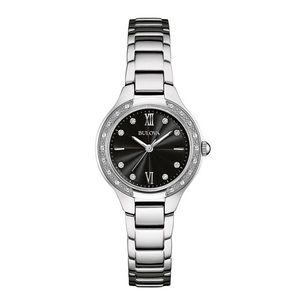 Bulova stainless steel and diamond accent watch